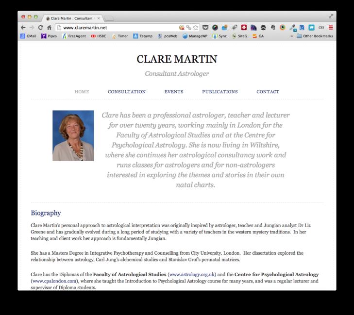 Clare Martin - Consultant Astrloger