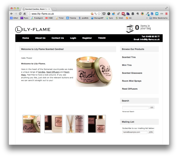 Lily Flame Scented Candles
